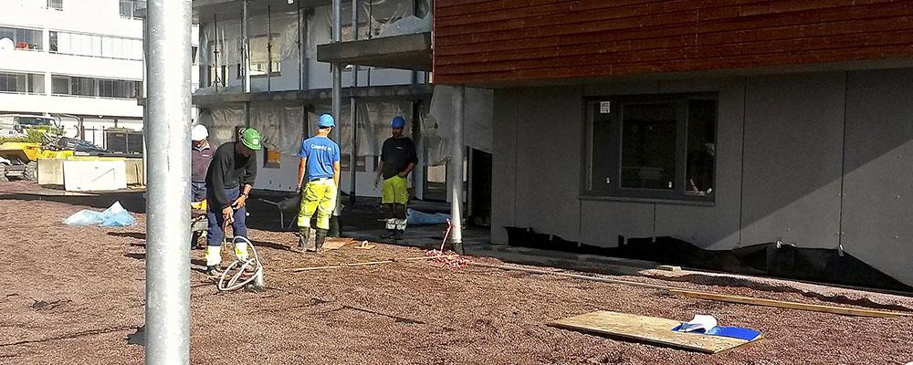 Drenering og isolasjon som effektiviserer arbeidet med fuktsikring av takterrasser: ISODREN.